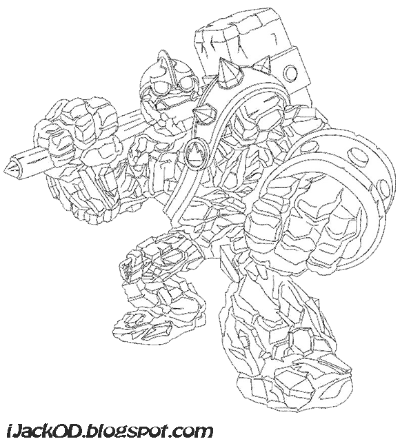 Eyebrawl skylander free coloring pages for Skylanders giants coloring pages eye brawl