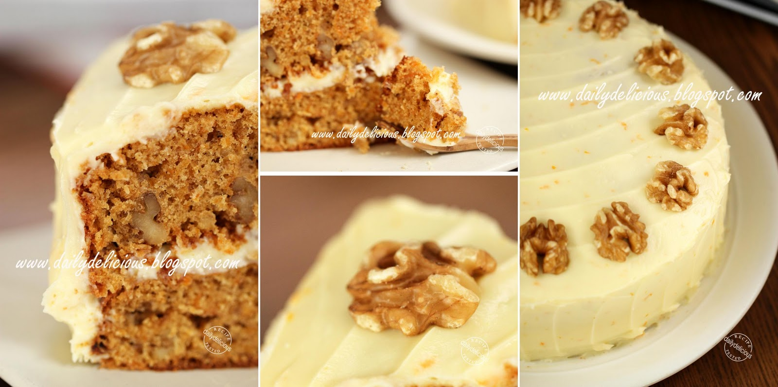 Carrot Walnut Cake Recipe Singapore