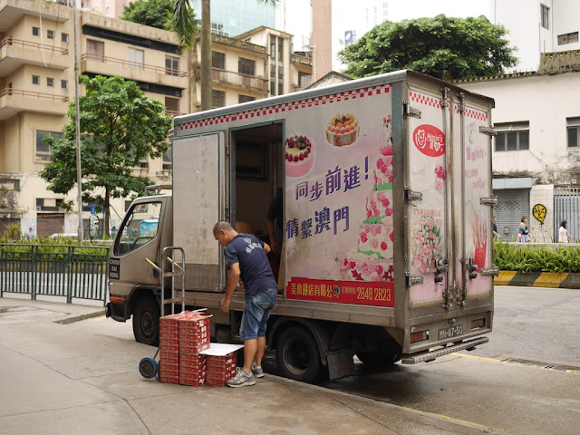 Maxim's bakery truck delivering mooncakes in Macau