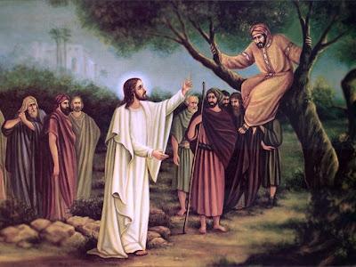 Hasil gambar untuk zakheus dan yesus-image