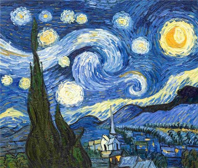 لوحة لليلة النجوم - فان جوخ, أشهر لوحات العالم, أجمل اللوحات العالميه,أروع اللوحات العالميه,أجمل اللوحات الفنيه العالميه,أروع اللوحات الفنيه العالميه,أشهراللوحات الفنية العالمية, أغلى لوحات العالم, غرائب وطرائف,
