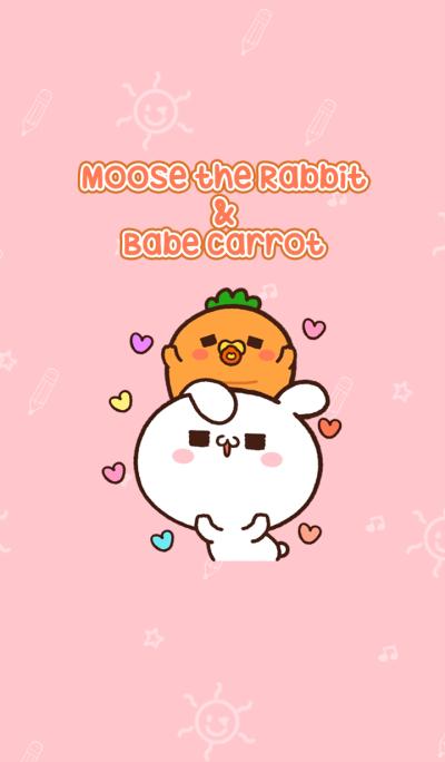 Moose the rabbit & Babe carrot Theme