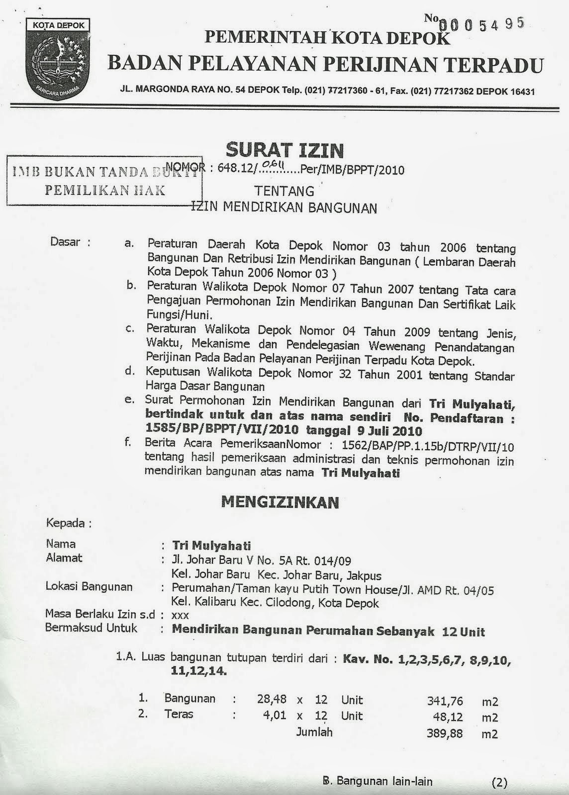 Contoh Surat Kuasa Urus Imb Contoh Surat Urus imb di kelurahan