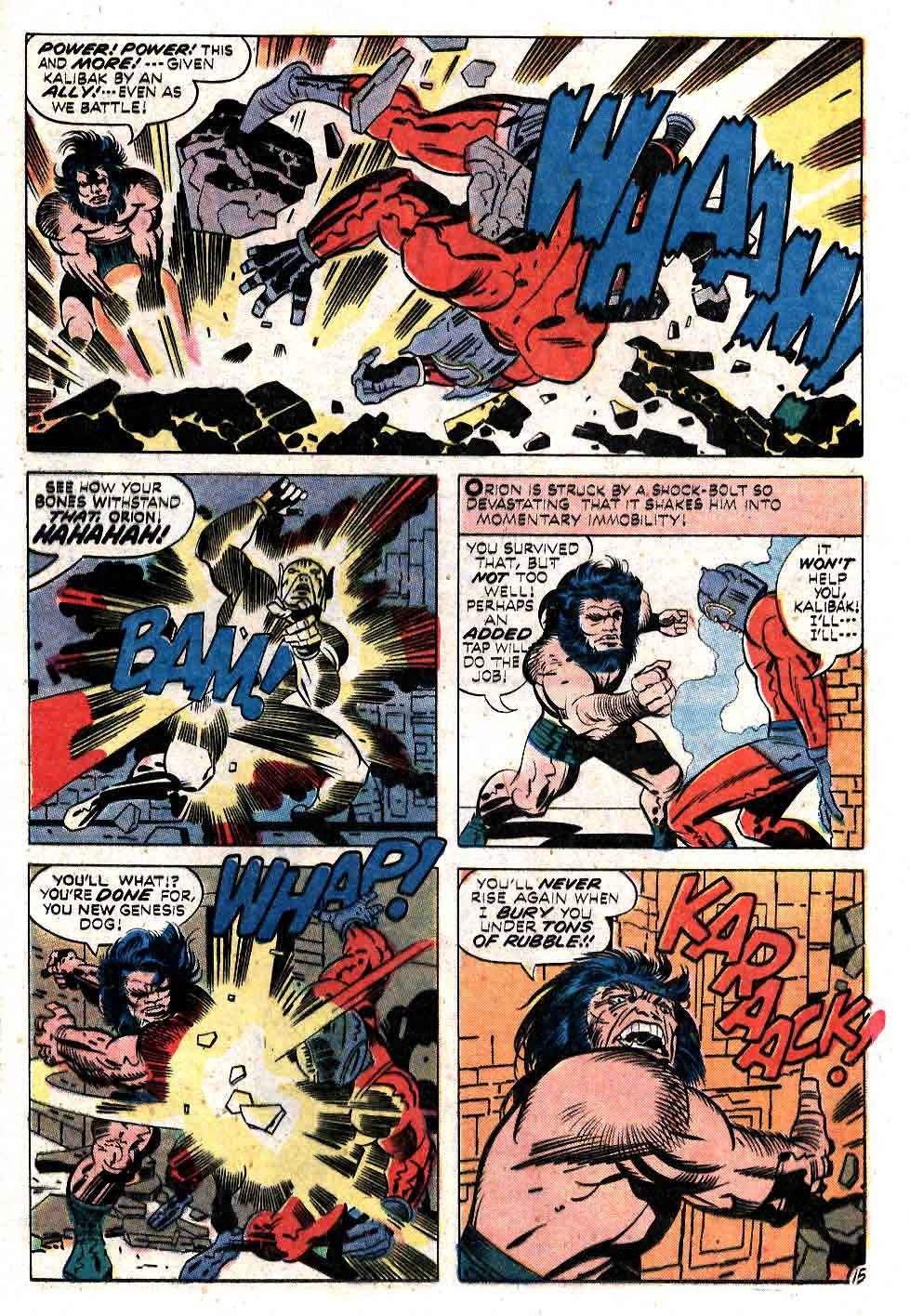 New Gods v1 #11 dc bronze age comic book page art by Jack Kirby