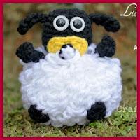 Bebé oveja amigurumi
