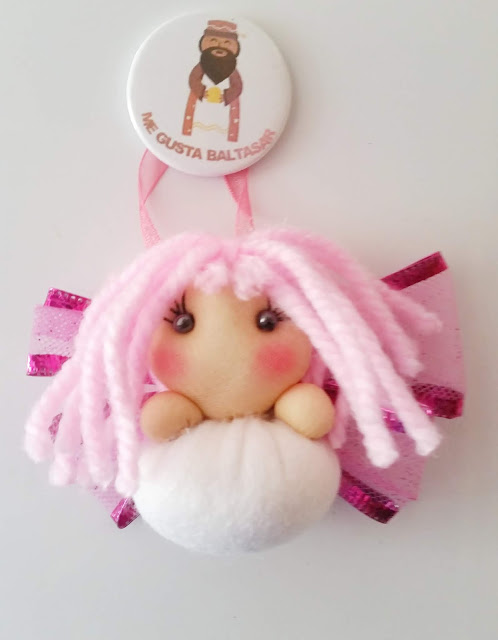 Angel de navidad en rosa
