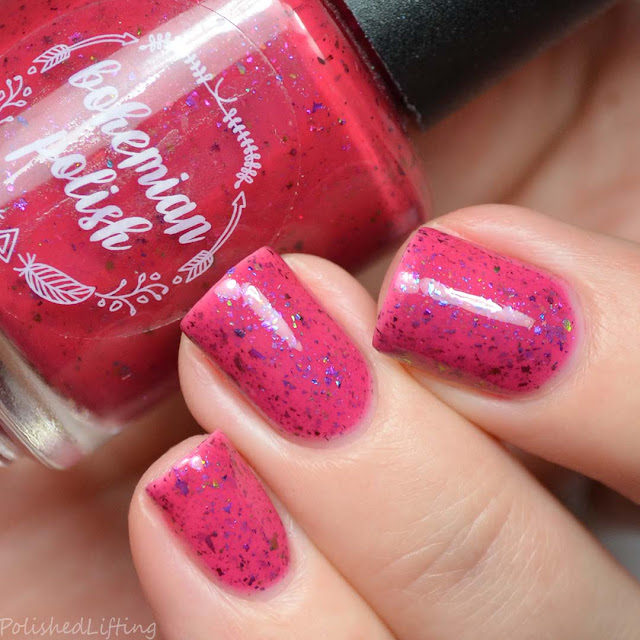 pink to red thermal nail polish