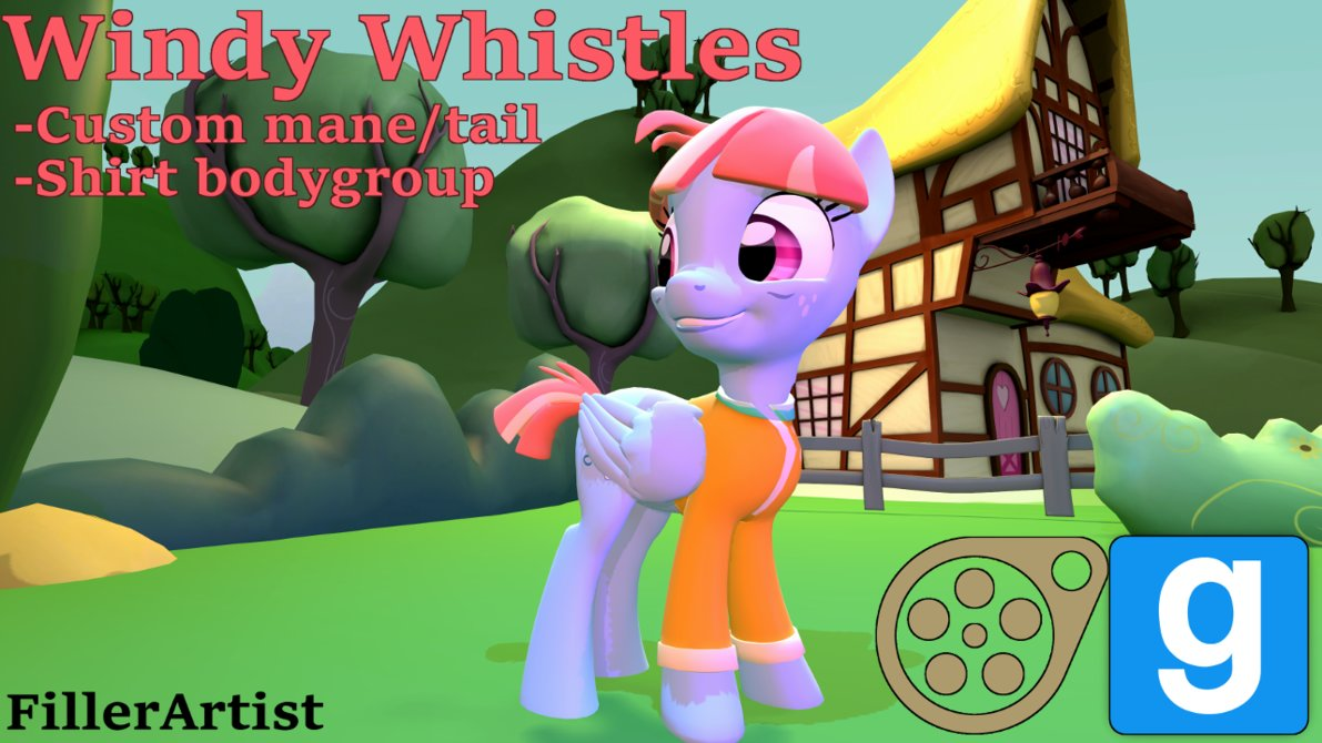 Equestria Daily - MLP Stuff!: SFM/Gmod Models for Windy Whistles and