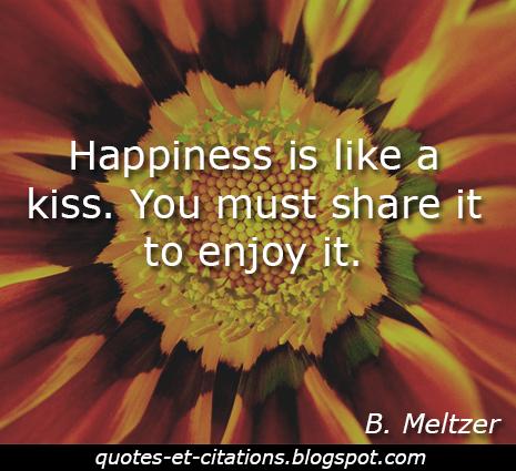 citation partager le bonheur