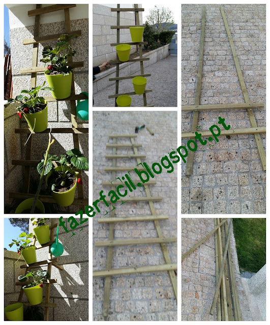 jardim vertical escada:Fazer Fácil: Jardim vertical em forma de escada