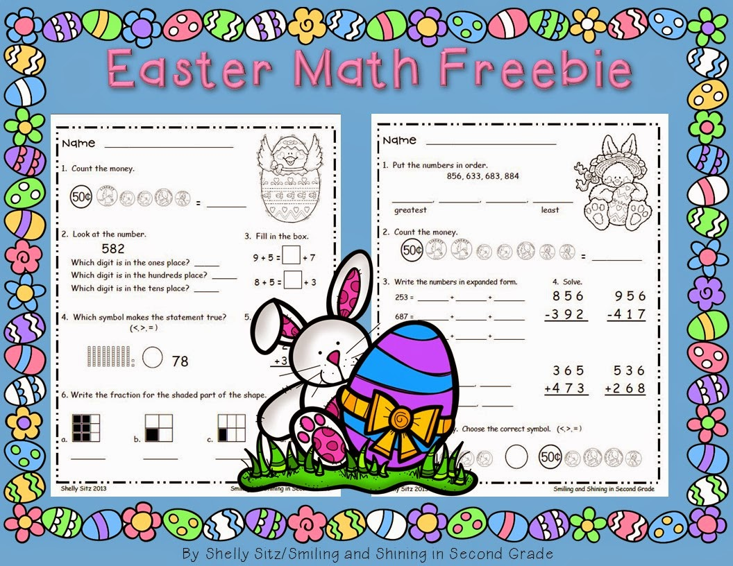 Smiling And Shining In Second Grade Easter Math Centers And A Freebie