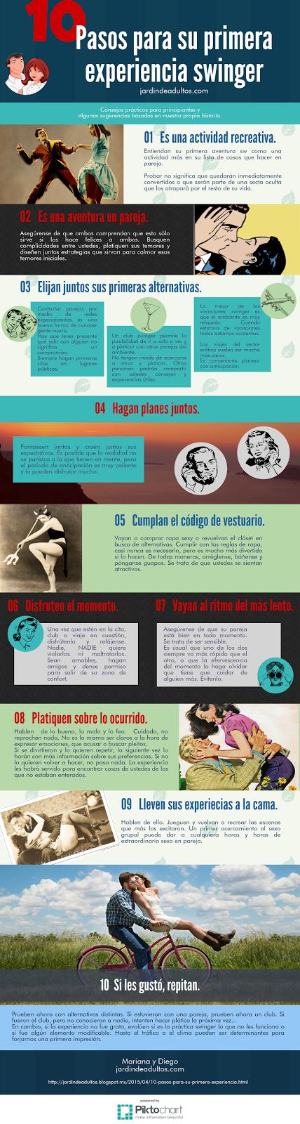 Infografía: 10 pasos para tu primera experiencia swinger