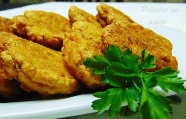 Receita de pataniscas de pescada