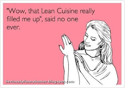 Wow, that lean cuisine really filled me up - said no one ever! Fun Photo