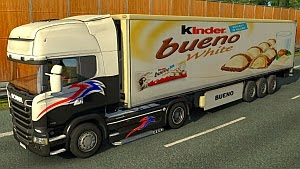 kinder Bueno White trailer