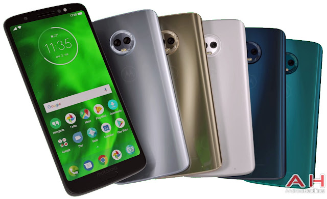 And Here is the Moto G6 Plus in Five Fun Colors