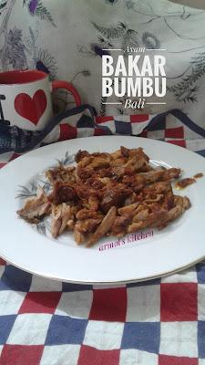 Resep ayam bakar bumbu Bali