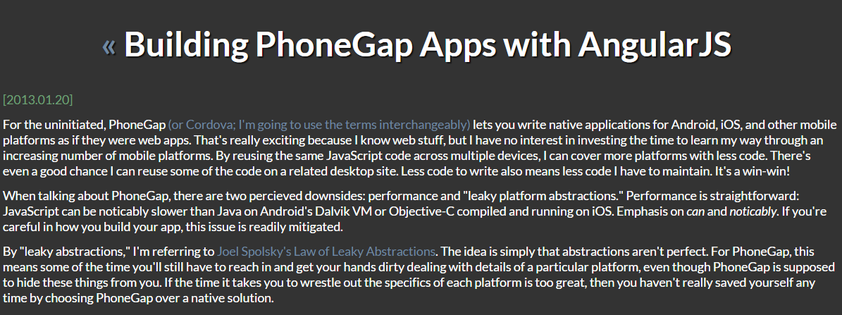 PhoneGap Apps with AngularJS