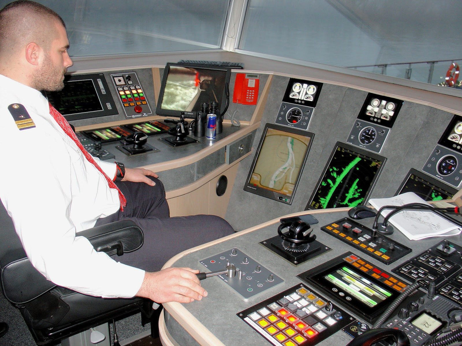 Inside the 'Wheelhouse' of the Viking River Cruises Longships.