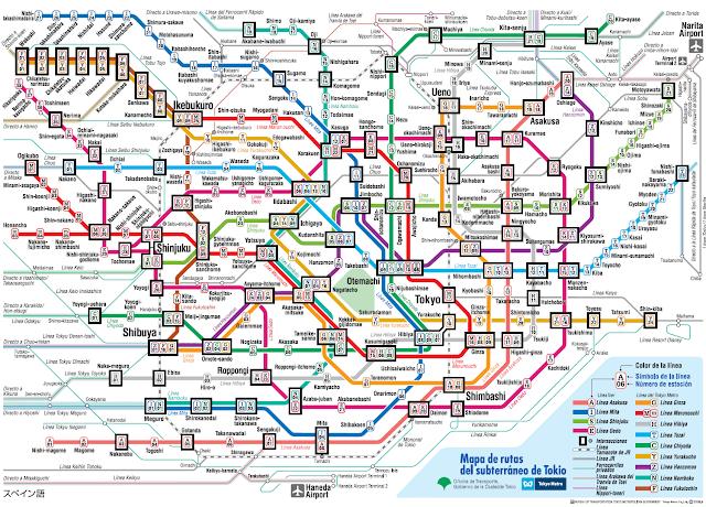 Plano metro Tokio.