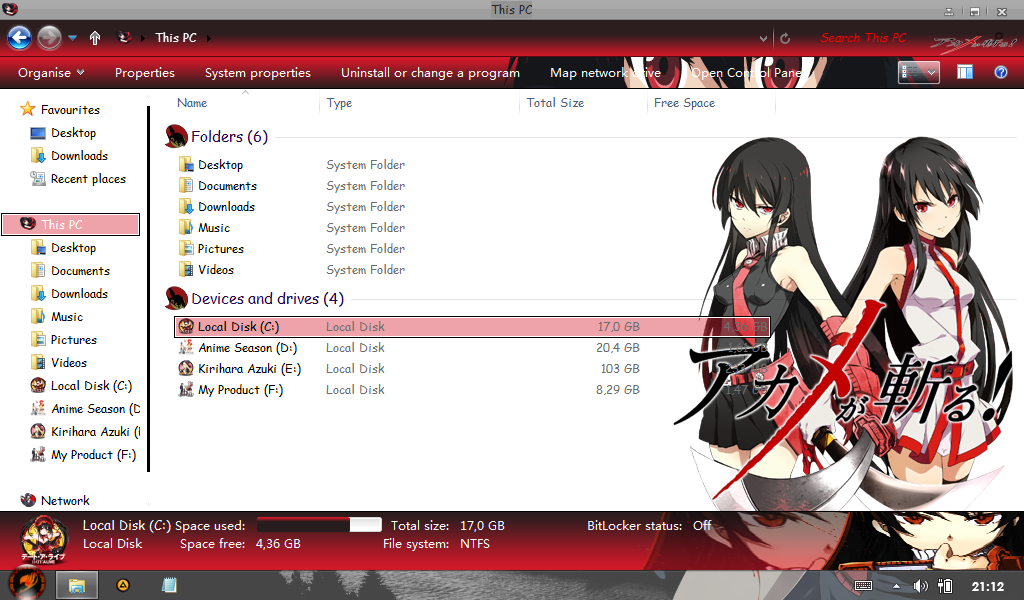 Akame [Akame ga Kill] for Win 8/8.1 4