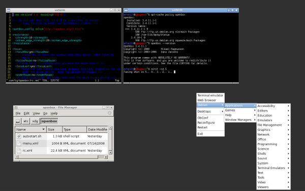 Basic Openbox-X Session
