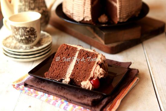 Resep Cake Tiramisu Jtt: Just Try & Taste: Resep Cake Chiffon Coklat Dengan Krim