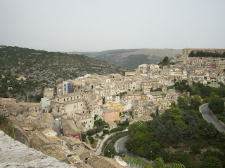 The city of Ragusa in southern Sicily, where much of the  location filming of Inspector Montalbano took place