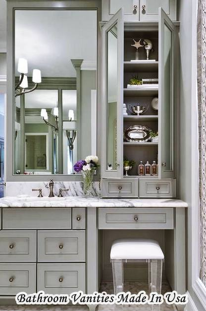 Bathroom Vanities Made USA with SIngle Sink