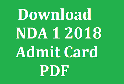 Download NDA 1 2018 Admit Card PDF