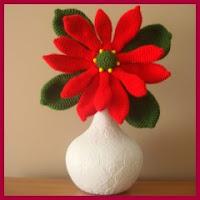 Flor de Navidad a crochet