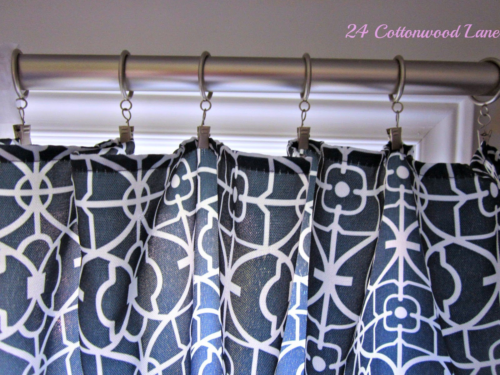 Sofa Table 84 Inches Old Sofas For New Diy No-sew Curtain Panels ~ 24 Cottonwood Lane24 ...