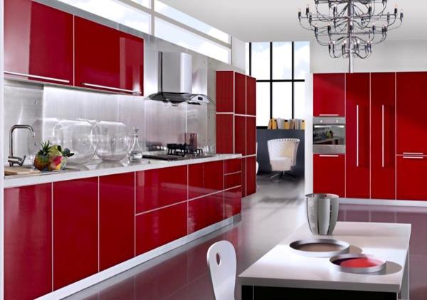contoh dapur warna merah