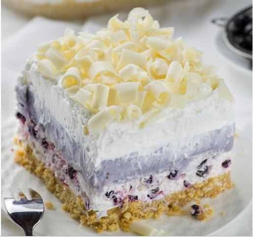 White Chocolate Blueberry Lasagna #dessert