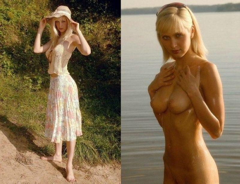 девушка в платье раздевается фото