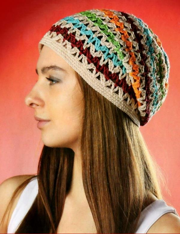Crochet Slouchy Hat, Easy