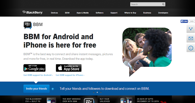 (Blackberry's) BBM for Android and iOS will have free international voice calling and location share, Photos