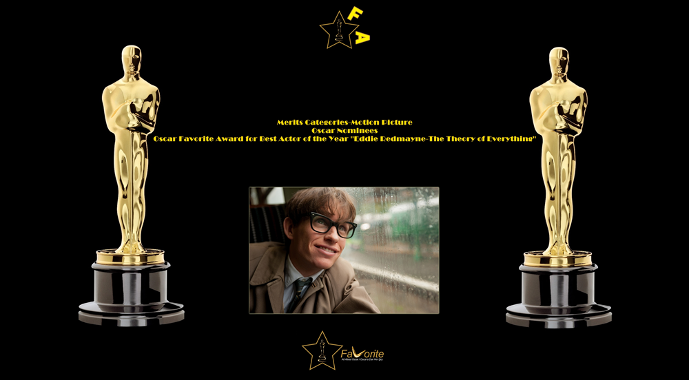 oscar favorite best actor award eddie redmayne the theory of everything