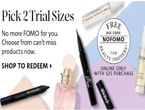 Sephora Free 2 Deluxe Trial Samples Promo Code