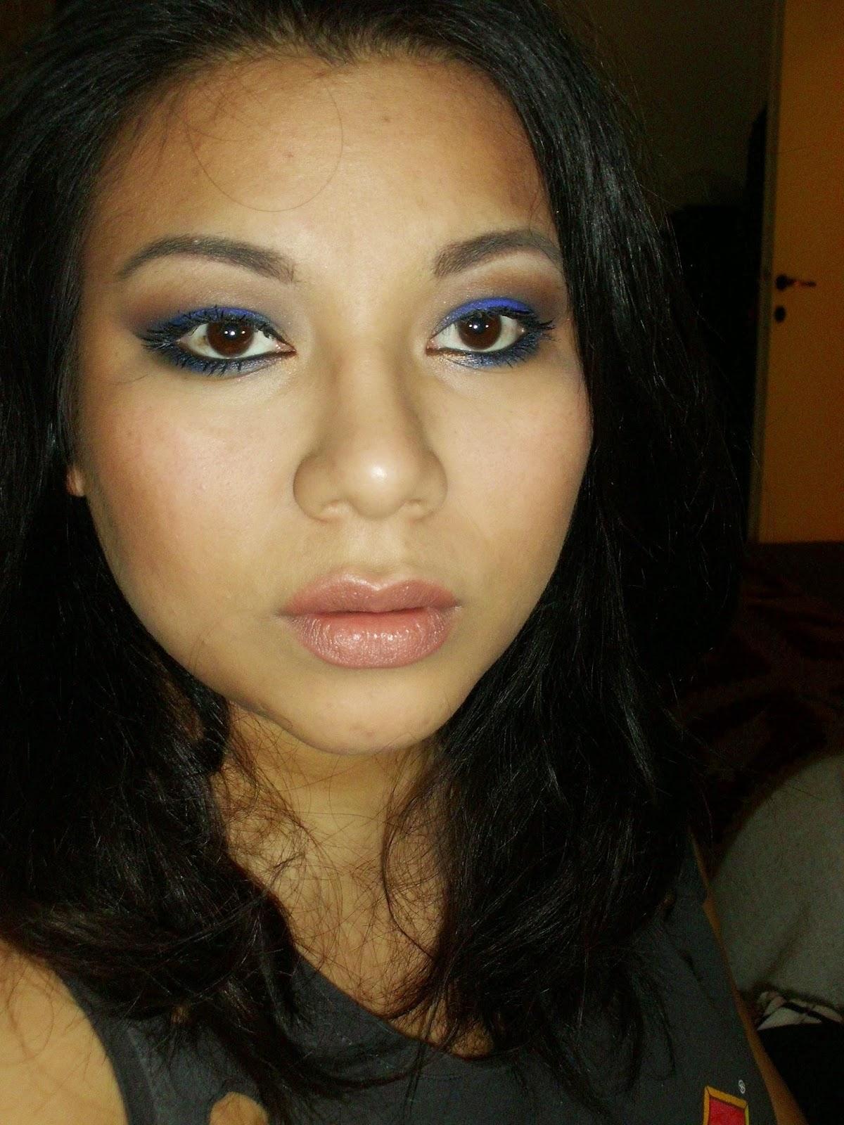 Blue elettrico trucco per occhi scuri