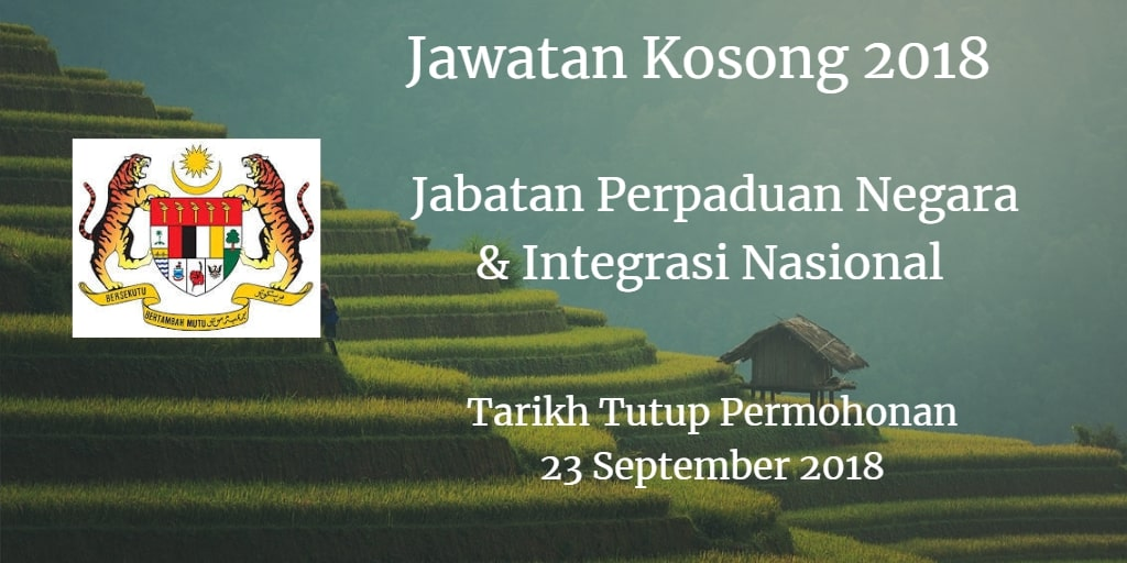 Jawatan Kosong JPNIN 23 September 2018