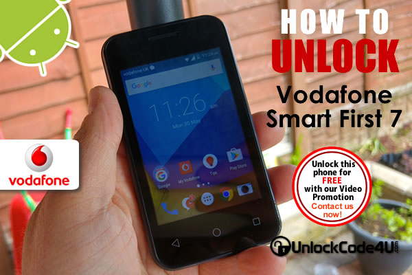 Factory Unlock Code Vodafone Smart First 7
