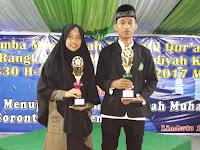 MAM Boliyohuto Gorontalo Juara 1 Pada MTQ Milad Muhammadiyah