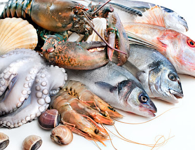 Pescados mariscos omega 3