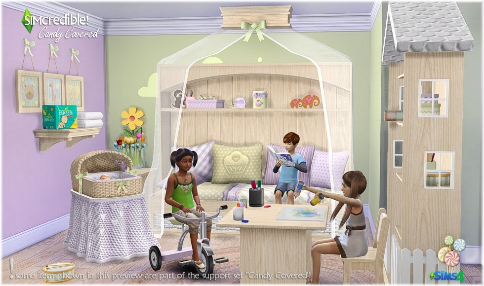My Sims 4 Blog Candy Covered Kids Room Set By