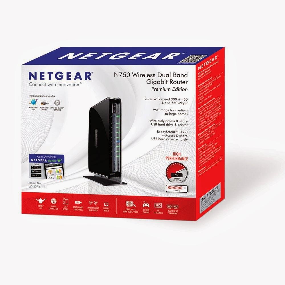 Top NETGEAR N750 Dual Band Wi-Fi Gigabit Router (WNDR4300