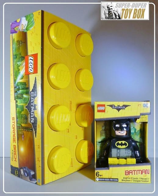 super dupertoybox lego batman storage brick alarm clock. Black Bedroom Furniture Sets. Home Design Ideas