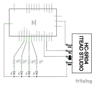 Non contact water level sensor circuit