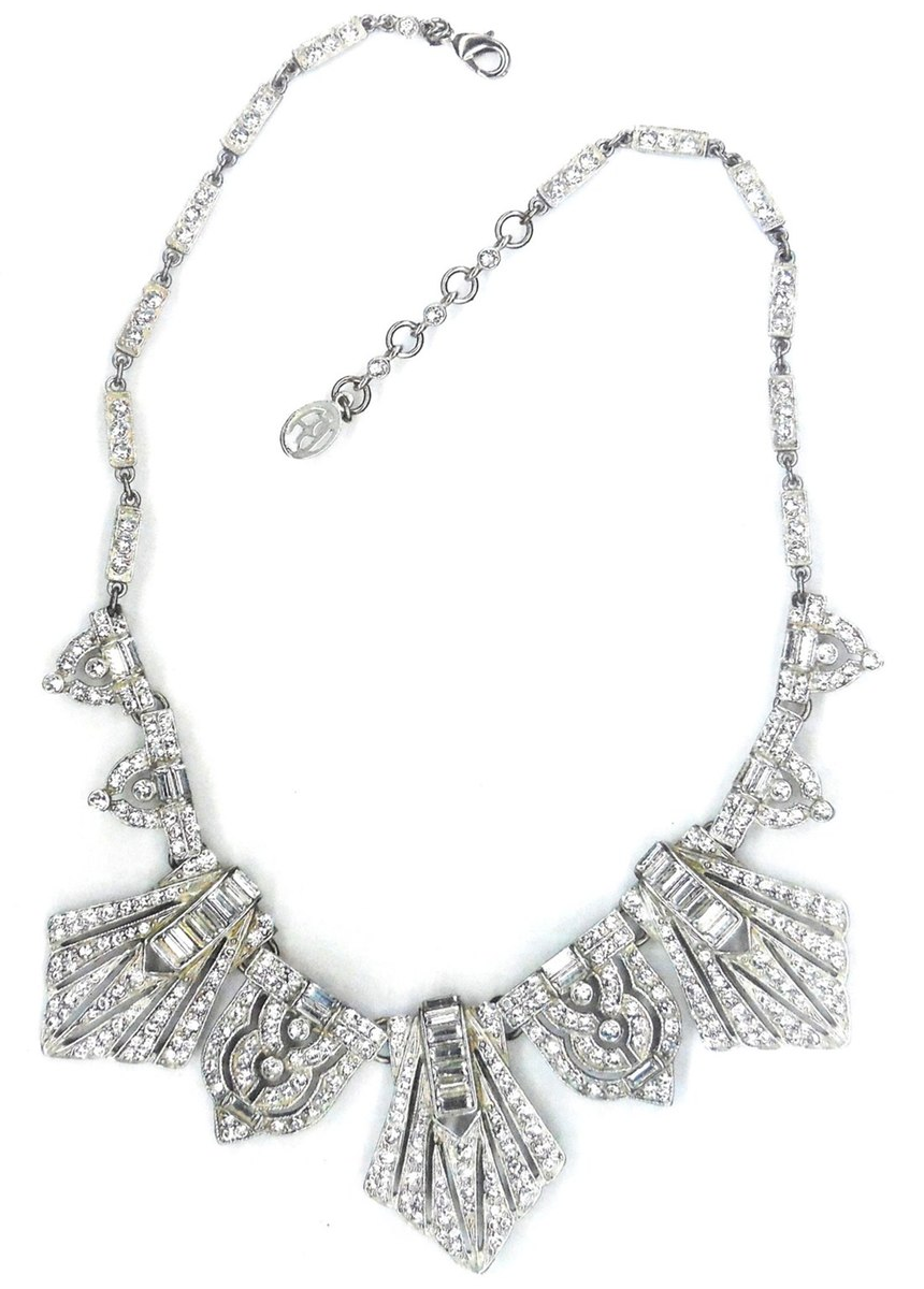 BEN X BEN-AMUN Crystal Deco Necklace