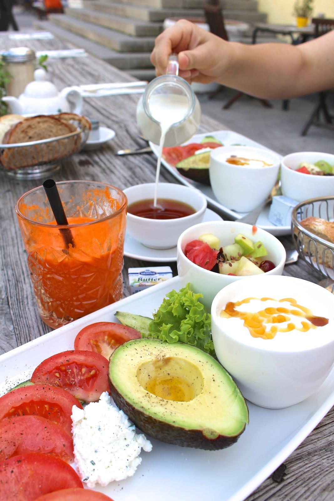 Gesundes frühstück Café Reitschule